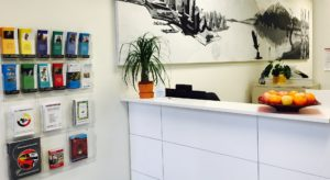 Front desk of UNYA's youth clinic, the Native Youth Health and Wellness Centre
